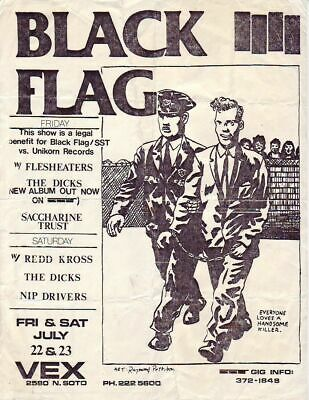 Black Flag - Concert VINTAGE BAND POSTERS Song Rock Travel Old Advert #ob
