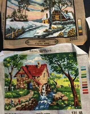 Complete Hand NEEDLEPOINT Country Houses Royal France Chose One from 3 available