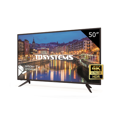 "Televisor 50"" Led 4K UHD Smart TV, TD Systems K50DLH8US. 3x HDMI, 2x USB"