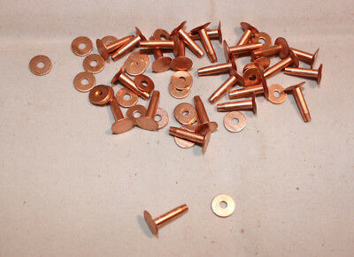 "#12 Rivets & Burrs - 1/2"" - Copper - Pack of 100 (F228)"