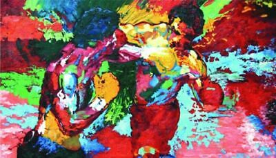 "VV298 ""Leroy Neiman Rocky vs Apollo""Handcraft oil painting On Canvas No Frame"
