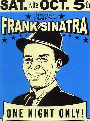 Frank sinatra a - Concert VINTAGE BAND POSTERS Song Rock Travel Old Advert #ob