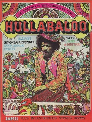 Hullabaloo - Concert VINTAGE BAND POSTERS Song Rock Travel Old Advert #ob