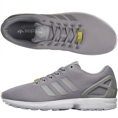new product 67902 b867a Mens Size UK 13.5-19 Adidas Originals Mens ZX Flux Trainers Grey White Big