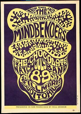 Mindbenders - Concert VINTAGE BAND POSTERS Song Rock Travel Old Advert #ob