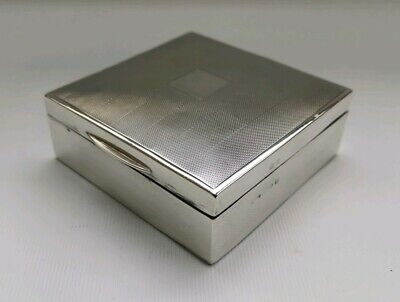 Vtg 1938 Hasset & Harper Solid Sterling Silver Art Deco Cigarette Jewellery Box