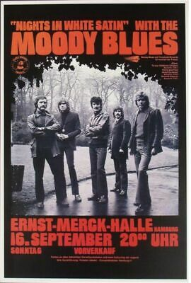 Moody Blues - Concert VINTAGE BAND POSTERS Song Rock Travel Old Advert #ob