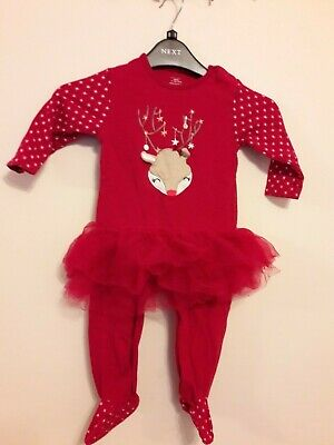 Primark Baby Girls Christmas All-in-One  Age 12-18 Months
