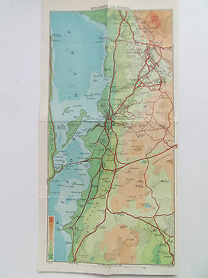 WINDERMERE AND BOWNESS LAKE DISTRICT VINTAGE MAP BARTHOLOMEWS 1930 12inx6in