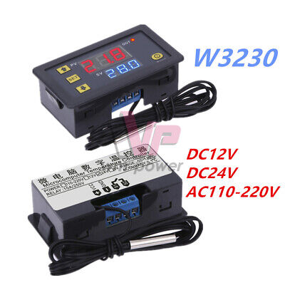 W3230 DC12/24V 110-220V 10A/20A LCD Thermostat Temperature Controller Regulator