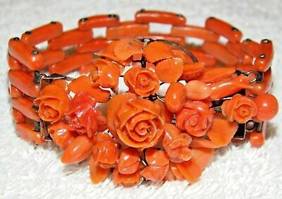 Old Real Antique Natural Red Coral beads / Bracelet Collection Amazing Piece