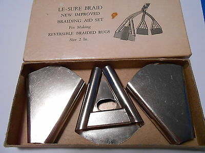 Vintage Le-sure triangular cones: fabric folders rug braiding tools set of 3, 2""