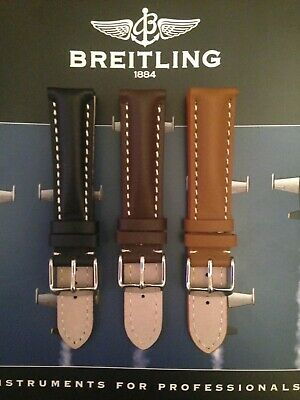 Genuine Leather Heavy Padded Calf Or Croc/Alligator Strap For Breitling Watches