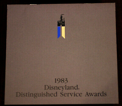 Disneyland 1983 Awards Program Vintage Hotel Grand Ballroom WDP Walt Disney Prod