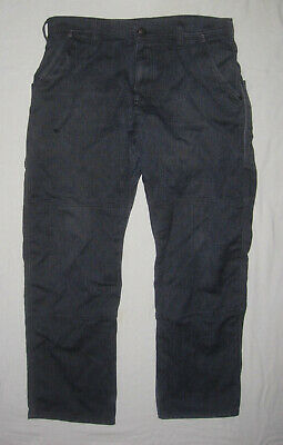 2f5b724693abe Patagonia Iron Forge Hemp Canvas pants, men's 38 Ink Black, hole on right  thigh