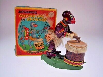 "GSFI ""CALYPSO JOE THE DRUMMER""  TPS  JAPAN, 14cm, WIND UP OK ! VERY GOOD !"