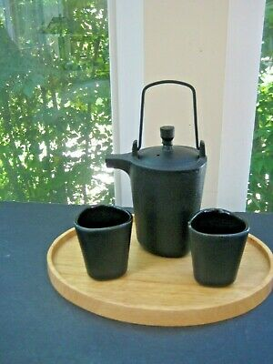 Tea Forte Rare Imperial Tea Cast-Iron Teapot & Cup Set with Bamboo Tray