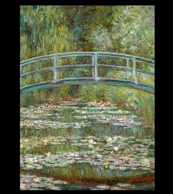 Claude Monet  Bridge Over a Pond of Water Lilies PHOTO of his 1899 Painting