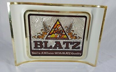 """Blatz Vintage 80's Beer Sign """"You're A Winner With Blatz Quality"""" No Light"""