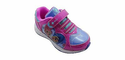 NEW NWT Girls Shimmer and Shine Sneakers Toddler Child Size 10,11,12