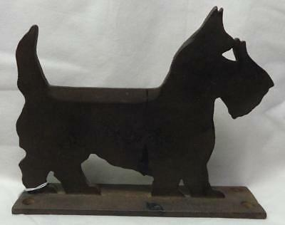 Antique Cast Iron Scotty Dog Bootscraper Pat. 1926 Norristown, Penna