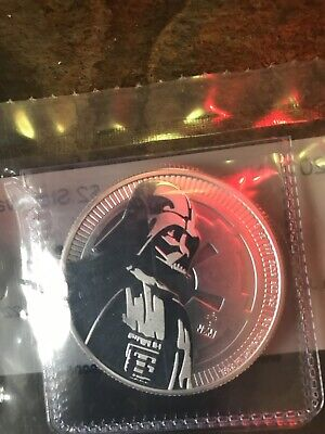 2017 Star Wars Darth Vader $2 BU 1 oz .999 Silver Coin - Factory Sealed Perfect!
