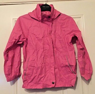Girls Pink Regatta Rain Coat Waterproof Breathable Walking Carry Bag 7-8 Yrs B5