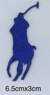 Polo Ralph Lauren Clothes Brand Logo iron/sew on Embroidery patch  #blue