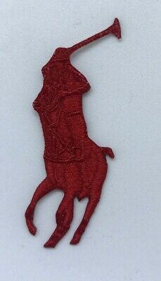 Polo Ralph Lauren Clothes Brand Logo iron/sew on Embroidery patch  #Red