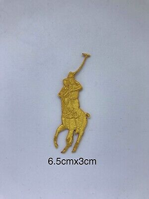 Polo Ralph Lauren Clothes Brand Logo iron/sew on Embroidery patch  #Yellow