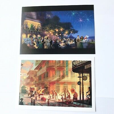 Disney Princess And The Frog New Orleans Animation Concept Art Postcards