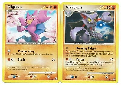 Gliscor HOLO 4//90 Undaunted /& Gligar 57//115 Unseen Forces NM Pokemon Cards