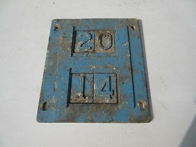 vintage cast metal aluminium ? water ? hydrant sign street furniture nos 2 4 1 0