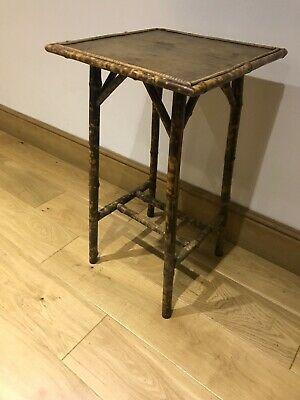 Antique Vintage Victorian Tapered Tall Bamboo Side Table, Plant Stand, Beautiful