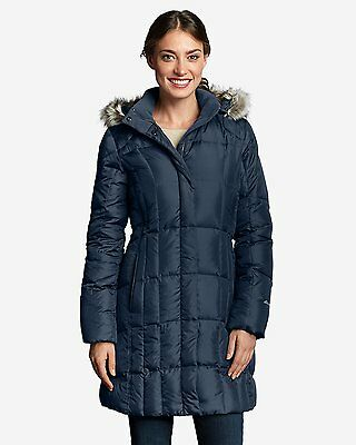 New Eddie Bauer Women's Lodge Down Parka Dusted Indigo Size XS
