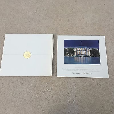 VIP 1997 Official White House Christmas Large Card Print -President Bill Clinton