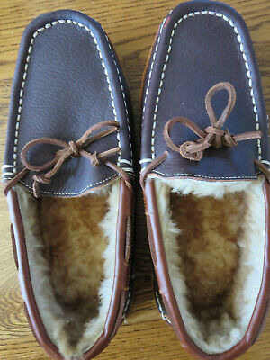 a831df85823 Mens Cabelas Bob Timberlake Bison Slippers Size 8M New Brown Slippers