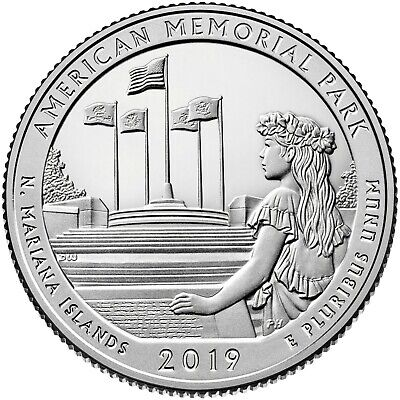 2019- S Clad American Memorial Park Quarter (N.m.i.)**deep Cameo-Mirror Proof**