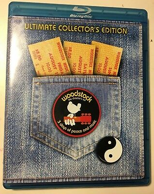 Woodstock The Director's Cut Bluray 2 DISC SET Ultimate Collector's Edition