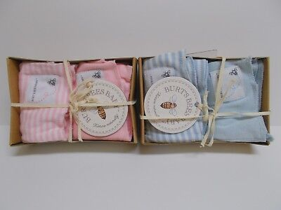 079f9e78c BURTS BEES BABY Burp Cloths Blue White Solid Striped 2 pack one size ...