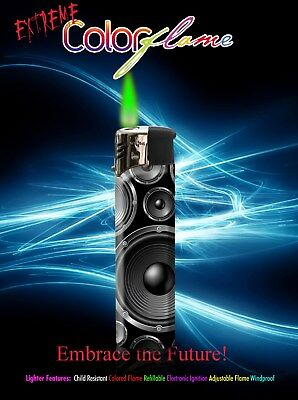 Color Flame Fire Butane Colorflame Colorful Torch Lighter Green Flame Boom Box