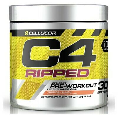 Cellucor C4 Id  Ripped Pre Workout Tropical Punch 30 Serves! Free Ship!