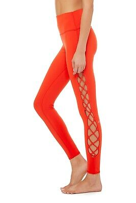 2786834e55d38d Alo yoga interlace high waist Cherry pop leggings red pants New Extra Small  XS