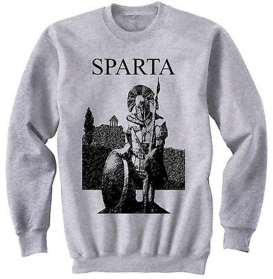 Spartan Warrior Sparta - New Cotton Grey Sweatshirt- All Sizes