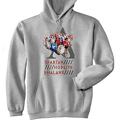 Spartan Hoplite Phalanx Sparta - New Cotton Grey Hoodie