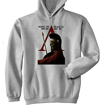 King Of Sparta Spartan - New Cotton Grey Hoodie