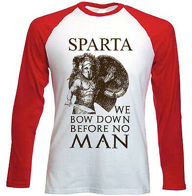 Sparta Spartan Warrior 23 - New Red Long Sleeves Cotton Tshirt