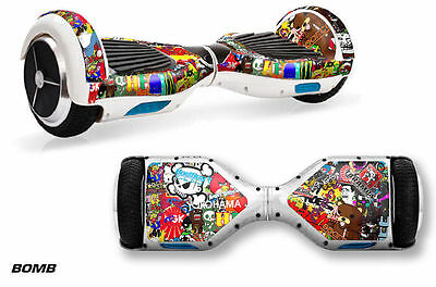 Skin Decal Wrap Stickers for Bluetooth Hover Board Scooters Fits Sense,Q6 ZBRA W
