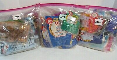 9c764ace293 TY McDonald s Happy Meal Teenie Beanie Babies ~1998~ 1999 ~2000 ~ NEW ~