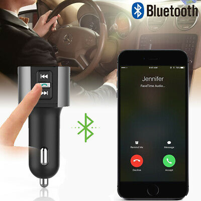 FM Wireless 3.4A USB Car Transmitter Charger Radio Bluetooth MP3 Player Adapter